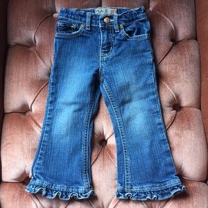 Children's Place Ruffle Flare Jeans 24M